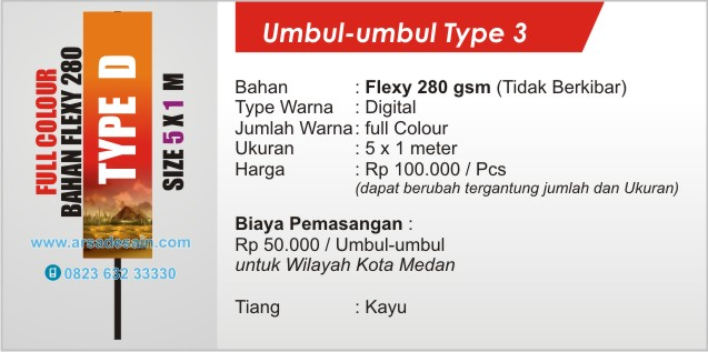 cetak umbul-umbul full colour di Medan ( banner china )