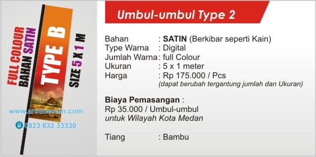 cetak umbul-umbul full colour di Medan