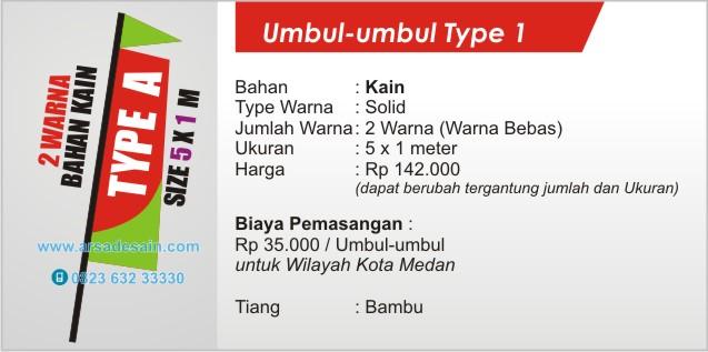 cetak umbul-umbul kain di Medan