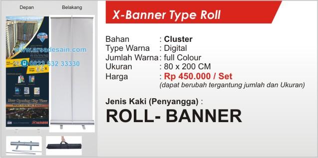 Roll Banner Medan 80 x 200 cm