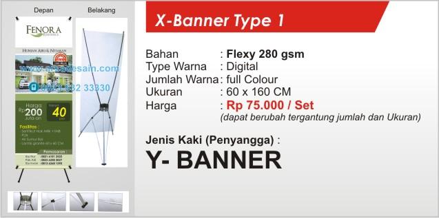 Cetak X-Banner di Medan X-banner type 1