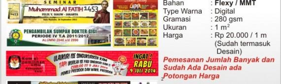Cetak Spanduk digital di Medan MMT / Flexy