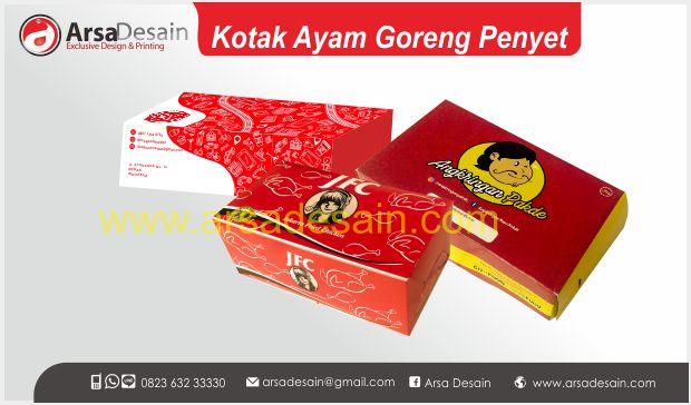 Cetak kotak ayam penyet Medan