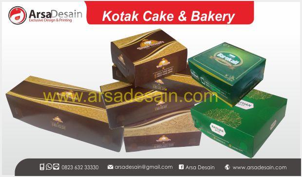 Cetak kotak cake bakery Medan