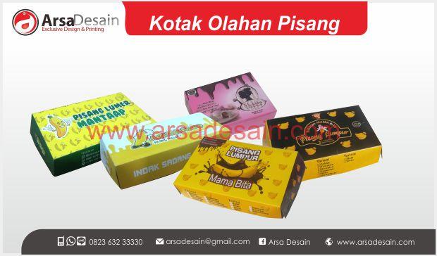 Cetak kotak pisang lumpur Medan