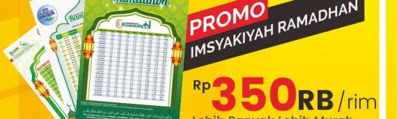 Promo Cetak Imsyakiyah Ramadhan 2019