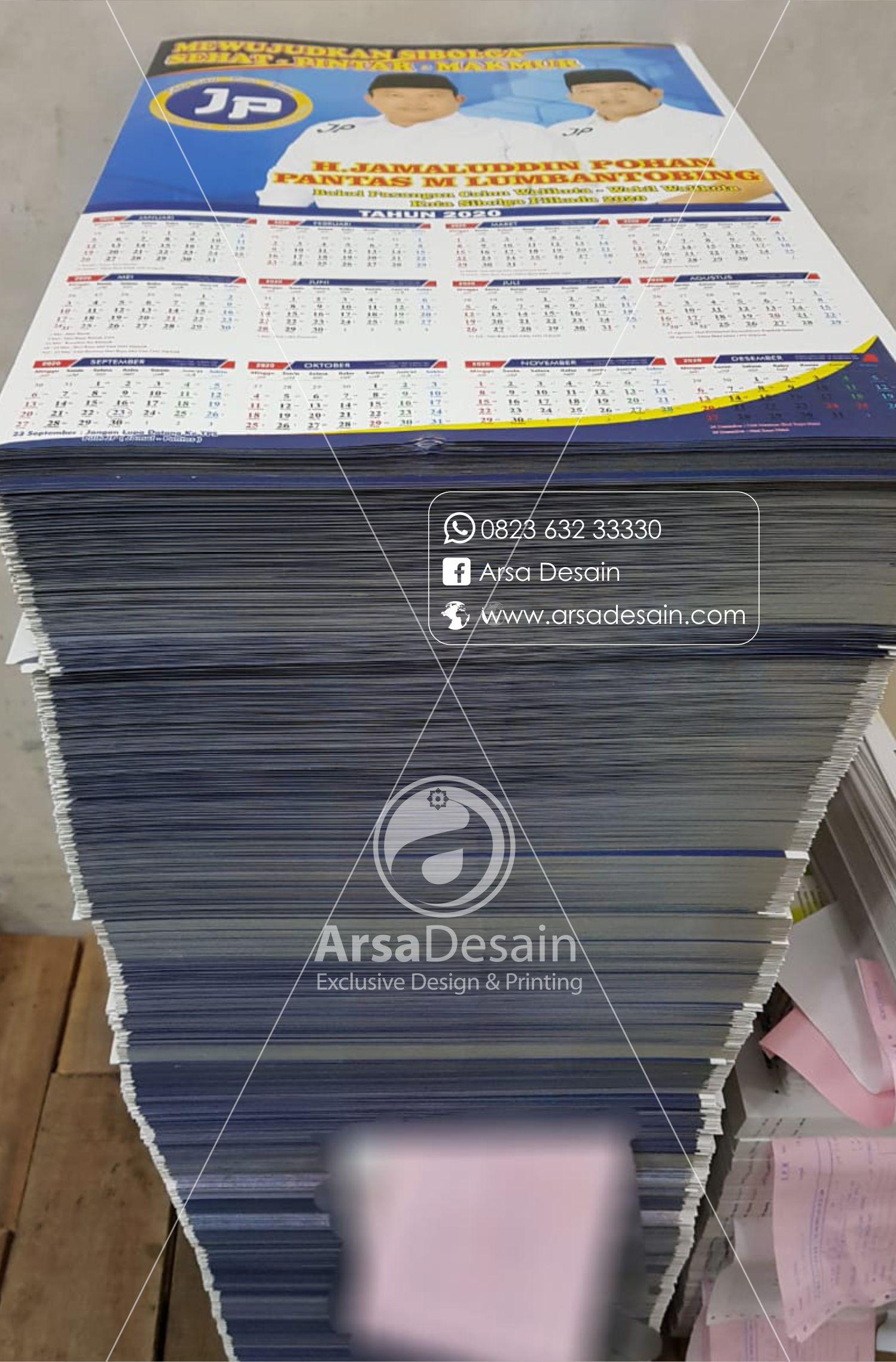 cetak kalender calon bupati medan